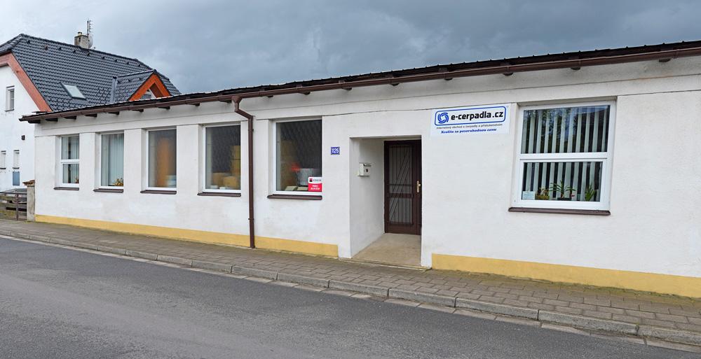 Prodejní sklad E-CERPADLA.CZ v Kostelci nad Orlicí