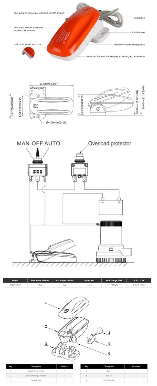 Schéma zapojení plovákového spínače